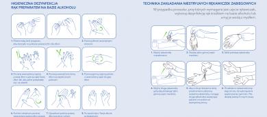 Instrukcja dezynfekcji dłoni i zakładania rękawiczek